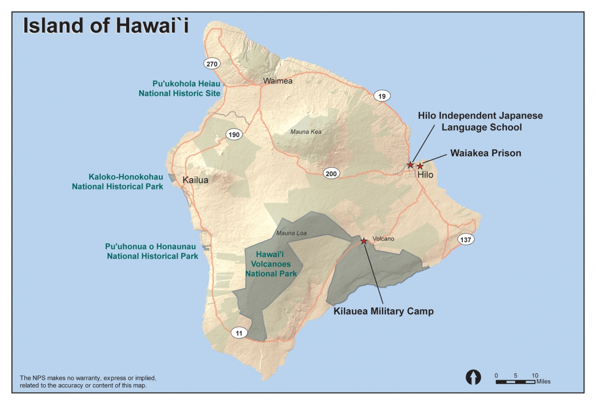 Internment Camps In Hawaii JCCH HAWAII INTERNMENT CAMP - Map of italian internment camps in us